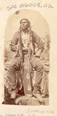 John K. Hillers, Big Spotted Horse, a Pawnee warrior, 1875.