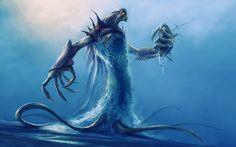 Artwork creatures fantasy art monsters water widescreen desktop mobile iphone android hd wallpaper and desktop. Mythological Creatures, Fantasy Creatures, Mythical Creatures, Fantasy Monster, Monster Art, Creature Feature, Creature Design, Cthulhu Art, Crab Art