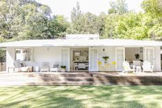 Bonnie Hindmarsh of Three Birds Renovations, has transformed her family& beach shack into an enviable holiday haven. Indoor Outdoor, Outdoor Living, Outdoor Rugs, Three Birds Renovations, Pearl Beach, Beach Shack, Beach Cottages, Beach Houses, Beach House Deck