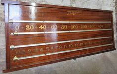 Antique mahogany snooker scoreboard by John Bennett.B451 | Browns Antiques Billiards and Interiors.