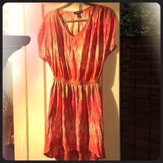 Express Pink Beige Spring dress Great dress worn 1x. Express Dresses High Low