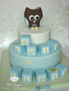 Owl christening cake by The Designer Cake Company, via Flickr