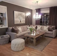 home # Living Room Elegant Living Room Colors - Karen Louise- # Living Room Ideas Quick Tips Living Room Decor Cozy, Elegant Living Room, Living Room Interior, Home Living Room, Apartment Living, Modern Living, Living Room Decor With Grey Walls, Living Room Ideas Tan Couch, Living Toom Ideas
