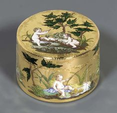 A Louis XV Enamelled Gold Snuff Box, Paris, 1753