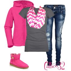 A fashion look from September 2013 featuring Full Tilt t-shirts and UGG Australia boots. Browse and shop related looks. Cute Fashion, Look Fashion, Teen Fashion, Fashion Outfits, Womens Fashion, Fashion Trends, Winter Outfits, Cool Outfits, Chevron Scarves