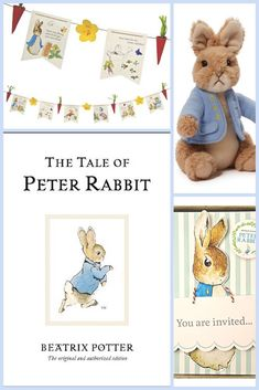 The Tale of Peter Rabbit! I just love this story book! Here are some theme party ideas with the Peter Rabbit theme...