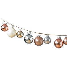 Hue Iced Metallic Ball Christmas Ornament ($26) ❤ liked on Polyvore featuring home, home decor, holiday decorations, christmas, xmas, filler, christmas holiday decorations, xmas ball ornaments, christmas tree ornaments and christmas holiday decor