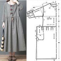 Maxi Dress Sewing PDF Pattern - Womens Maxi Dress Pattern - Maxi Dress patterns for Women Dress Sewing Patterns, Clothing Patterns, Pattern Sewing, Drape Dress Pattern, Free Pattern, Embroidery Patterns, Hand Embroidery, Fashion Sewing, Boho Fashion