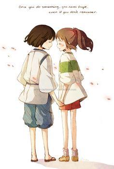 Haku and Chihiro  Spirited Away