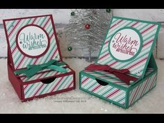 Crafty Christmas Countdown #23 – Presents and Pinecones Easel Card with Drawer : Intatwyne Designs