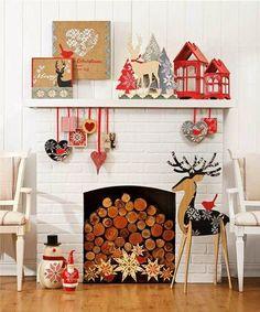 prepara y decora tu chimenea de cartn con estos sencillos