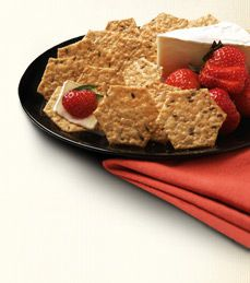Totally loving Crunchmaster's sea salt crackers with cream cheese and a side of fruit these days.