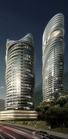 Arte s Towers, Penang, Malaysia by Spark Architects :: 49 floors, height 170m