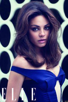 Mila Kunis -  Elle Mag August 2012  Big Hair Friday.  http://www.hairromance.com/2012/07/big-hair-friday-mila-kunis.html#