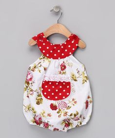 Take a look at this Red Rose Bubble Bodysuit - Infant by Beary Basics on #zulily today!