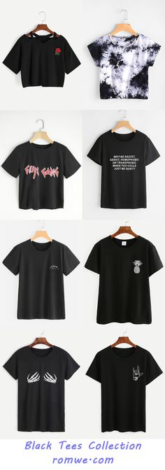 Black Tees Collection