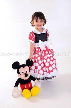 Vestido Minnie Baby tradicional para festa infantil