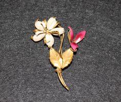 2 flowers brooch