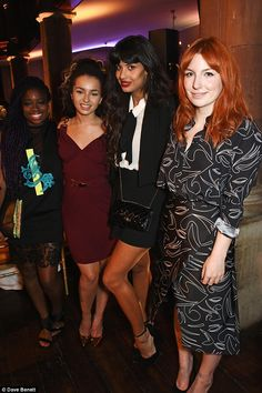 Music friends: (From left) Clara Amfo, Ella Eyre, Jameela Jamil and Alice Levine shared a snap Ella Eyre, Orchestra Concerts, Fearne Cotton, Spanish Actress, Jesy Nelson, Tv Presenters, Perrie Edwards, Celebrity Look, Sheer Dress