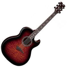 Dean Exhibition Quilted Ash Electro-Acoustic, Tiger Eye at Gear4Music.com