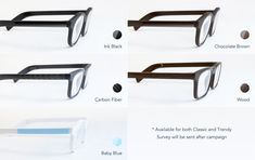 Vue's temple piece (sides of the frames) comes in the following styles #smartglasses #vueglasses #newtech