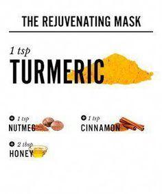 Antidote for Dullness: Cinnamon + Nutmeg + Turmeric Mask #TumericFaceMaskBeforeAndAfter #HomemadeFaceMask #BeautyDiyFace #TumericMask Nutmeg Face Mask, Cinnamon Face Mask, Tumeric Masks, Diy Turmeric Face Mask, Turmeric Face Mask Acne, Homemade Lip Balm, Homemade Face Masks, Turmeric And Honey, Glowy Skin
