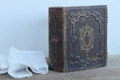 vintage photo albums from 1800's | Vintage Leather Bound Embossed Photo Album by vintagewall on Etsy