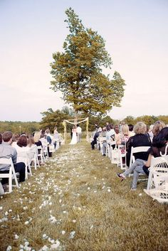Ceremony in a field