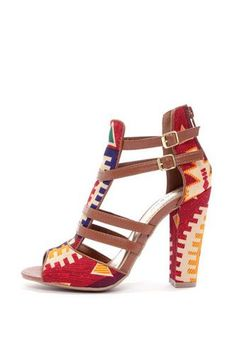 Bamboo Senza 03 Strappy Heels, $55, available at Em & Lee. #refinery29 http://www.refinery29.com/luxe-sandals#slide-16
