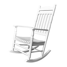 Shine Company Rhode Island Porch Rocker White ** Check this awesome product by going to the link at the image. (This is an affiliate link) Outdoor Rocking Chairs, Patio Seating, Boutique, Furniture Sets, Furniture Websites, Outdoor Furniture, Outdoor Decor, Hardwood, Rhode Island