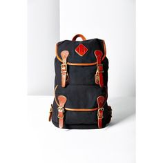BDG Canvas + Leather Backpack ($80) ❤ liked on Polyvore