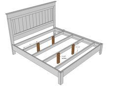 DIY King Size Platform Bed | You'll need additional support for a king. I recommend at minimum 4 ...