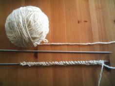 Recette pour chaussettes sans couture avec deux aiguilles du blog Moutons et compagnie