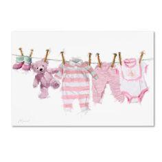 Trademark Fine Art 'Baby Girl II' Canvas Art by The Macneil Studio, Size: 12 x 19, Pink