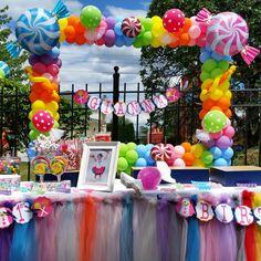 Candy man bday theme