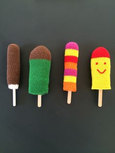 Crochet ICE lollies #12moc #gloever