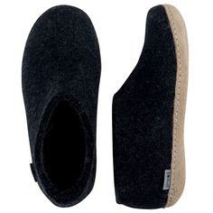Buy Glerups Felt House Shoe - Charcoal from Hus & Hem. The Glerups shoe has a back to keep the slipper firmly on the foot and they are by far the most stylish and understated shoes we've ever had the pleasure to pad around the house in. On Shoes, Black Shoes, Felt House, Barefoot Shoes, Mens Slippers, Stylish Men, Charcoal, Footwear, Slip On