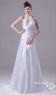 http://www.ikmdresses.com/Outdoor-Garden-A-Line-Halter-Puddle-Train-Wedding-Dress-p20793