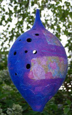Felt lantern, purple by Claudia Zandstra-Burkhardt