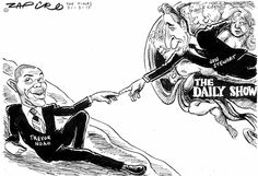 Zapiro - Trevor Noah to Replace Jon Stewart in the Daily Show published in The Times on 31 Mar 2015