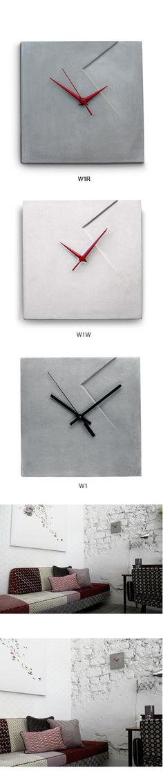 Imprint Concrete Wall Clock (W1, W1W)