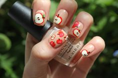 apple mani! so cute!