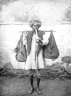 Snake charmer, India, ca 1921