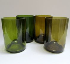 Wine bottle glasses-great recycling idea but how do you cut and smooth the edges?