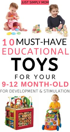 Best Educational Toys for to Maximize Stimulation and Development - Just Simply Mo - These are the top toys that your or 12 month old baby will love and keep them entertaine - # 9 Month Old Toys, 11 Month Old Baby, 9 Month Olds, 9 Month Baby Toys, Baby Monat Für Monat, Baby Lernen, Best Baby Toys, Best Educational Toys, Educational Activities
