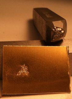Metal Steel Stamp Flower Rose 3/16. $13.50, via Etsy.