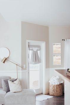 DaniDesignsCo | Light Gray French Door Curtain - easy install
