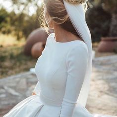 Modest Wedding Dresses Satin Ball Gowns With Sleeves Wedding Gown satin ball gown wedding dress Wedding Dress Train, Wedding Dress Sleeves, Long Wedding Dresses, Gown Wedding, Lace Wedding, Dream Wedding, Elegant Wedding, Wedding Bride, Floral Wedding