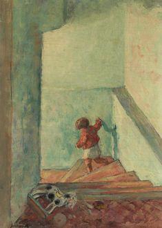 Enfant dans un escalier, Henri Lebasque. French (1865 - 1937)