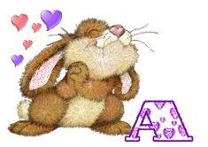 Alfabeto tintineante de conejito amoroso. | Oh my Alfabetos!